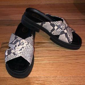 ASH Snakeskin Platform Sandals